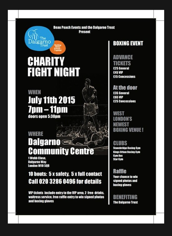Charity Fight Night in aid of The Dalgarno Trust