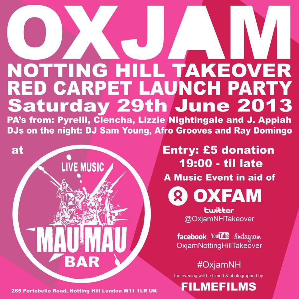Oxjam Notting Hill