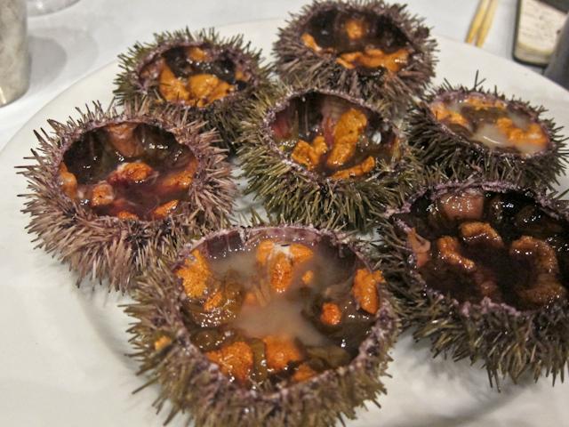 Korean Menu at Dock Kitchen - raw urchin