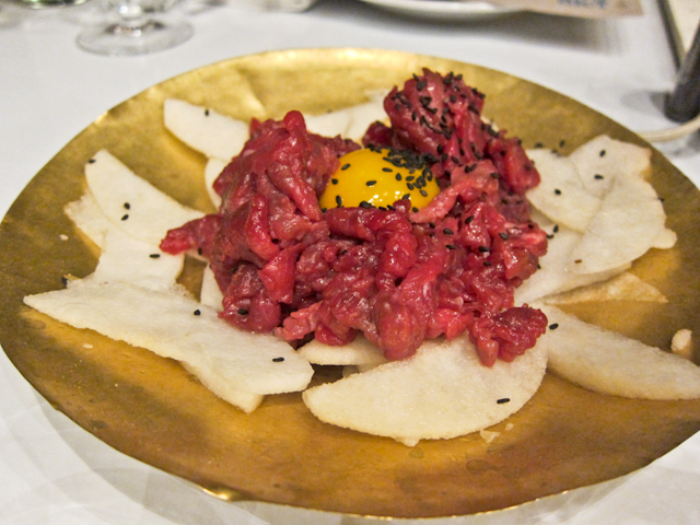 Korean Menu at the Dock Kitchen - raw beef